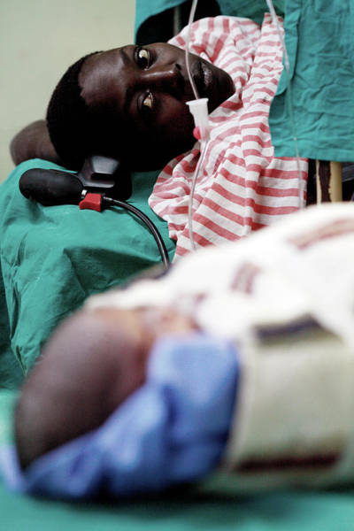 Uganda Wall Art - Photograph - Mother And Baby After Caesarean by Mauro Fermariello/science Photo Library