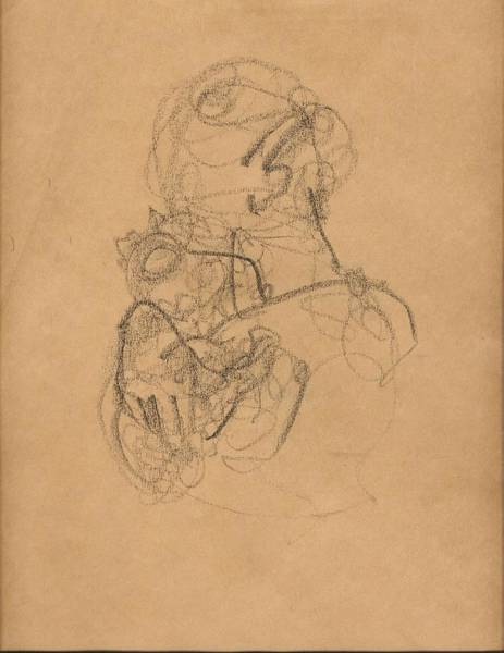 Trinidad Drawing - Mother And Baby With Bonnet by Mary Adam