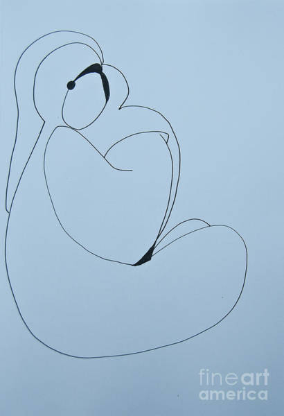 Painting - Mother And Child - Doodle by James Lavott