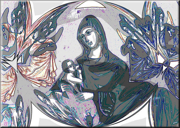 Digital Art - Mother And Child 2009 by Glenn Bautista