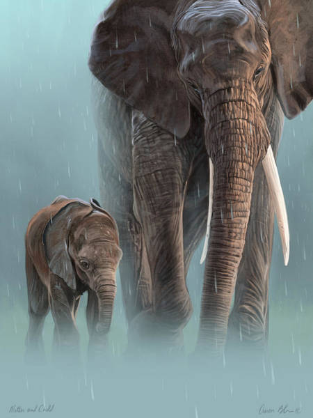 African Wall Art - Digital Art - Mother And Child by Aaron Blaise