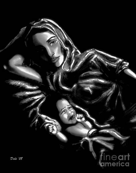 Digital Art - Mother And Child by Dale   Ford