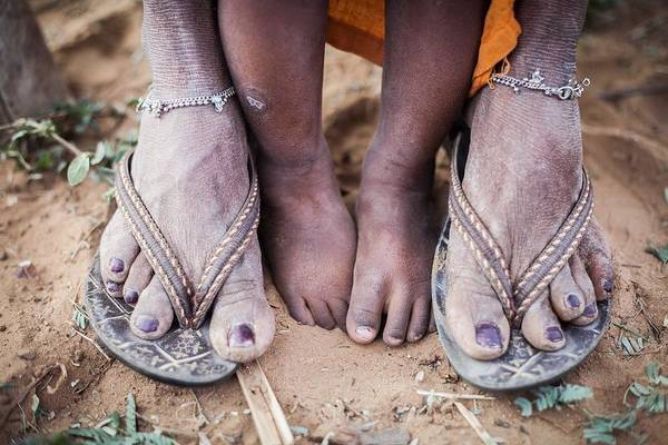Foot Photograph - Mother And Child by Piyush Goswami