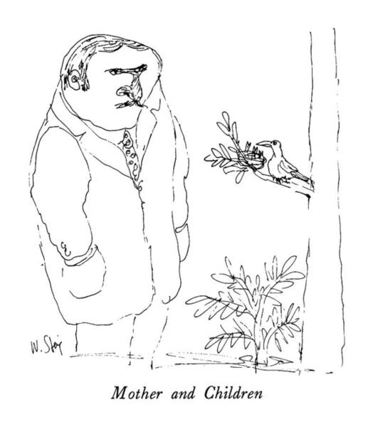 April 9th Drawing - Mother And Children by William Steig