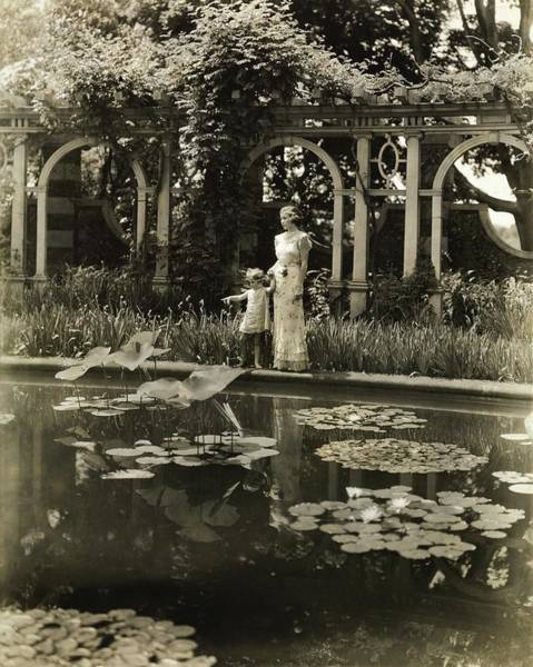 6 Photograph - Mother And Daughter By A Pond by Toni Frissell
