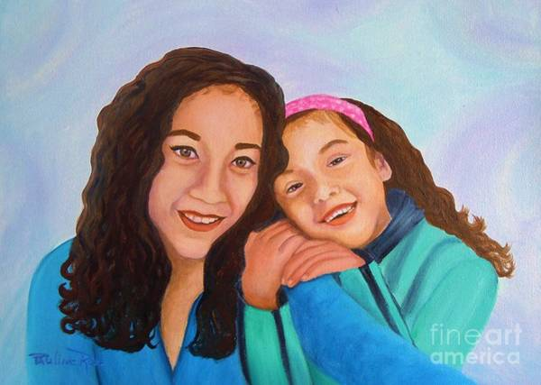 Wall Art - Painting - Mother And Daughter by Pauline Ross