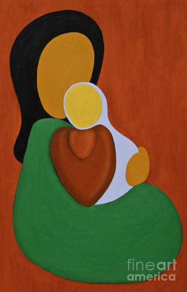 Painting - Mother And Son by James Lavott