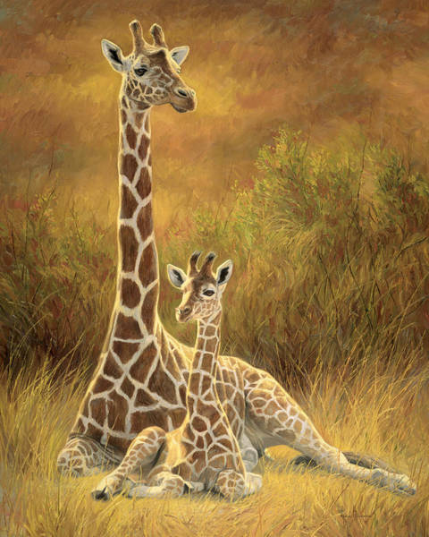 African Wall Art - Painting - Mother And Son by Lucie Bilodeau