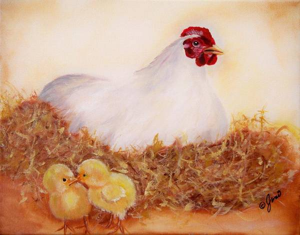 Painting - Mother Hen by Joni McPherson