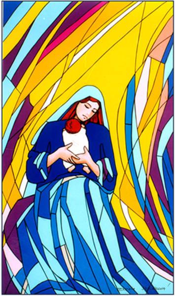 Wall Art - Painting - Mother Mary And Child by Terezia Sedlakova