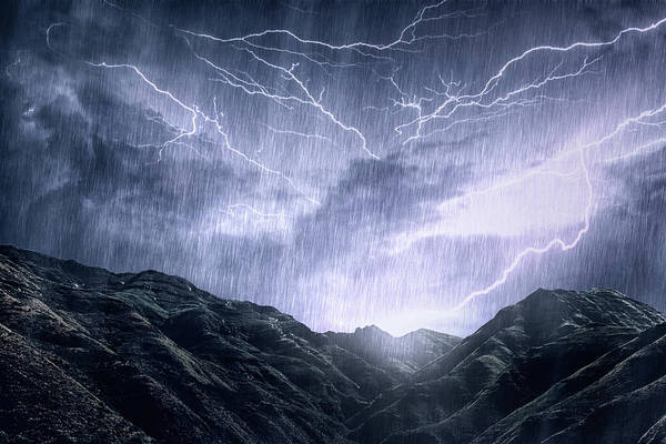 Fuel Element Photograph - Mother Nature Unleashes Her Rage by Yuri arcurs