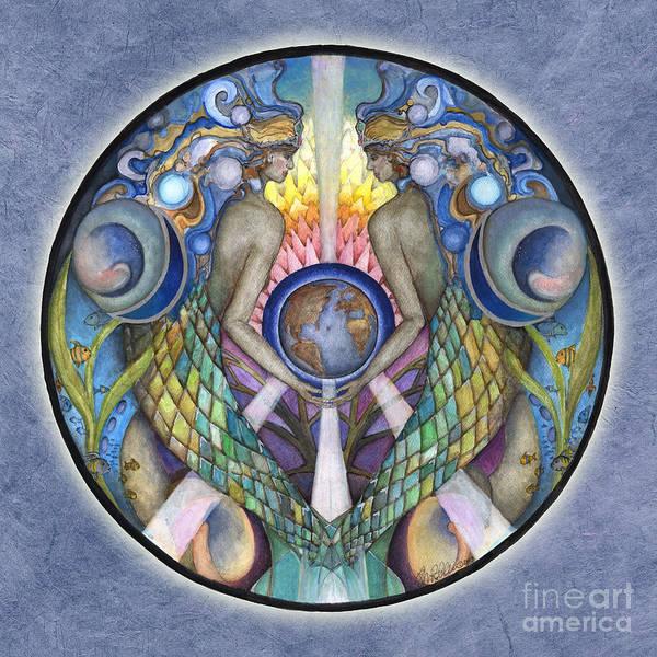 Painting - Mother Ocean Mandala by Jo Thomas Blaine