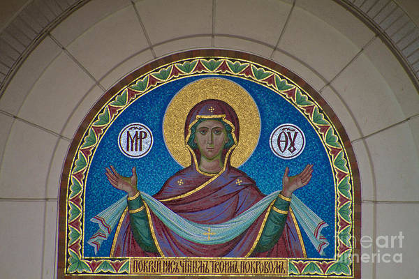 Photograph - Mother Of God Mosaic by William Norton
