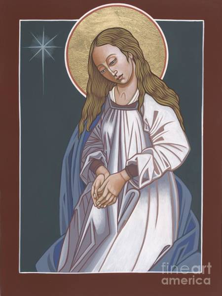 Mother Of God Waiting In Adoration 248 Art Print