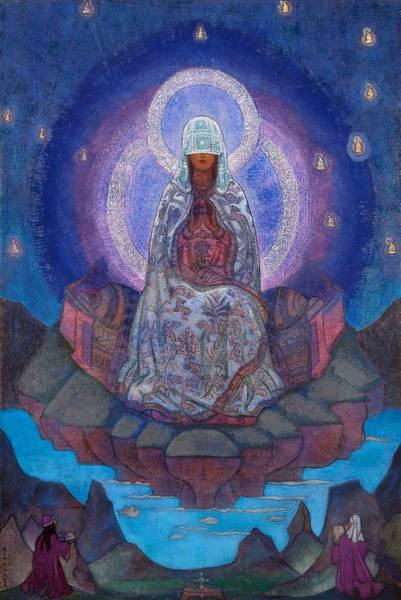 Saint Wall Art - Painting - Mother Of The World by Nicholas Roerich