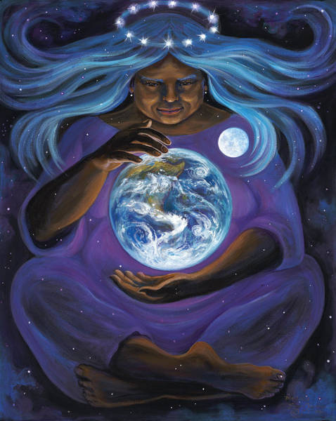Crone Wall Art - Painting - Mother Protection by Brenda Ferrimani