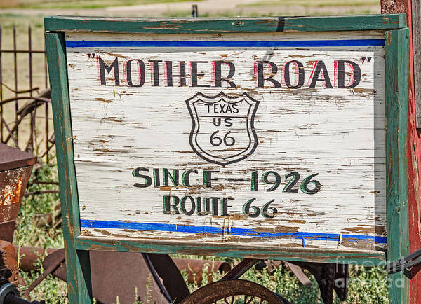 Photograph - Mother Road Sign by Sue Smith
