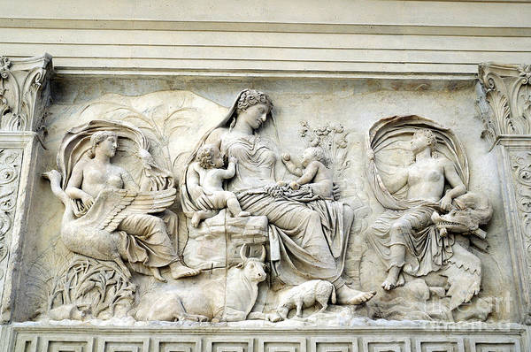 Photograph - Mother Rome On The Ara Pacis by Brenda Kean