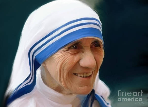 Holy Painting - Mother Teresa by Paul Tagliamonte