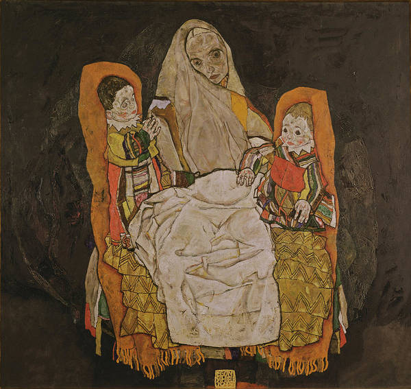 Painting - Mother With Two Children, 1915-17  by Egon Schiele