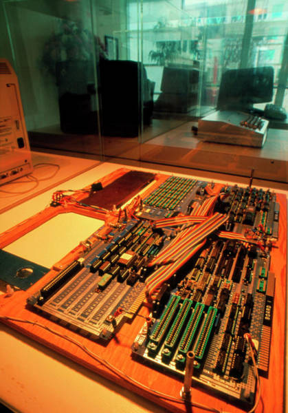 Silicon Valley Wall Art - Photograph - Motherboard From The First Apple Computer by Peter Menzel/science Photo Library