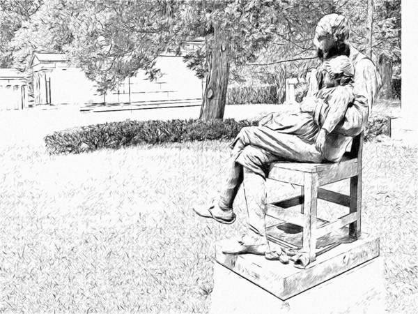 Digital Art - Motherless Sculpture By George Anderson Lawson by Digital Photographic Arts