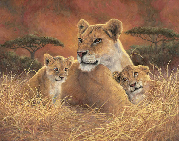 Wall Art - Painting - Motherly by Lucie Bilodeau