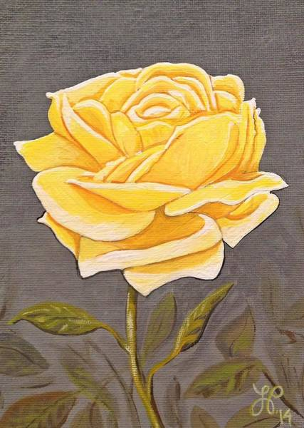 Single Rose Painting - Mother's Rose by Laura Parrish