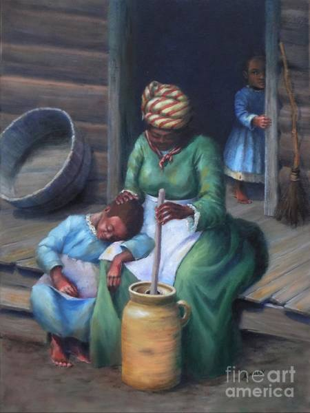 Churn Painting - Mother's Work by Ainsley McNeely