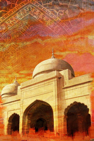 Wall Art - Painting - Moti Masjid by Catf