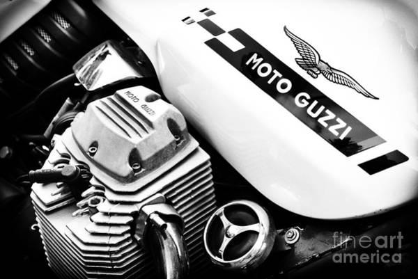 Photograph - Moto Guzzi Le Mans Monochrome by Tim Gainey