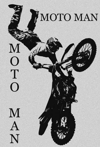 Dirt Bike Photograph - Moto Man by David Lee Thompson