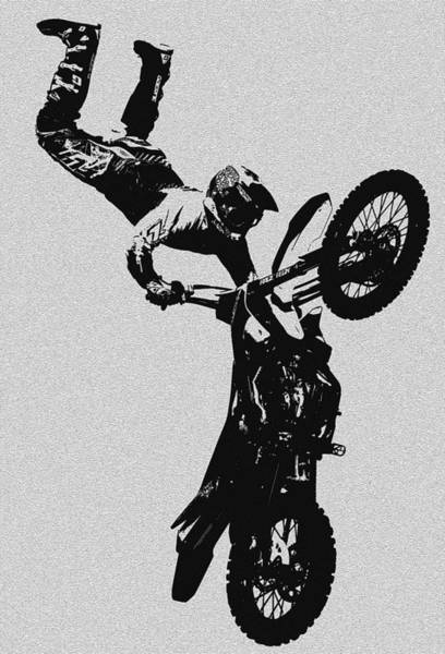 Dirt Bike Photograph - Moto Man O Work by David Lee Thompson