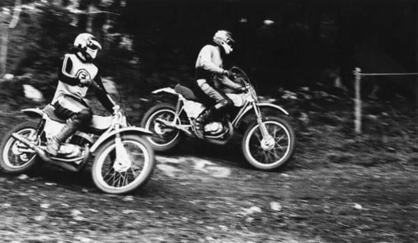 Photograph - Motocross 1975 by Dragan Kudjerski
