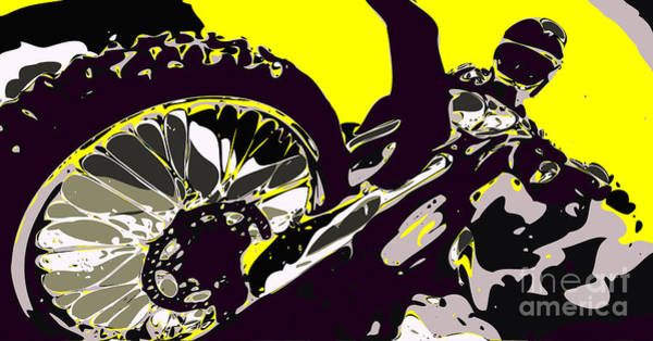 Enduro Wall Art - Digital Art - Motocross by Chris Butler