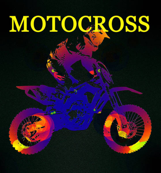 Dirt Bike Photograph - Motocross Color Work A by David Lee Thompson