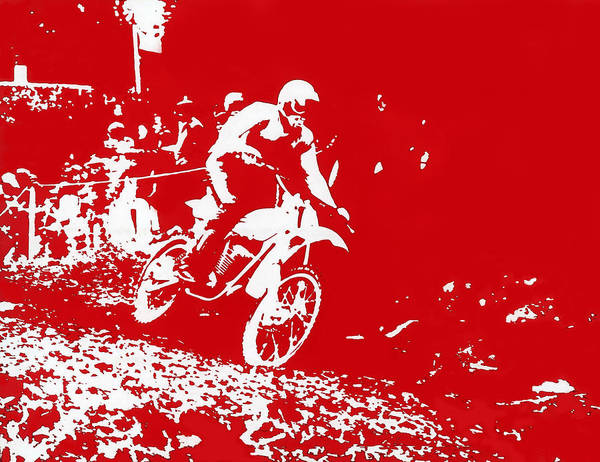 Photograph - Motocross by Dragan Kudjerski