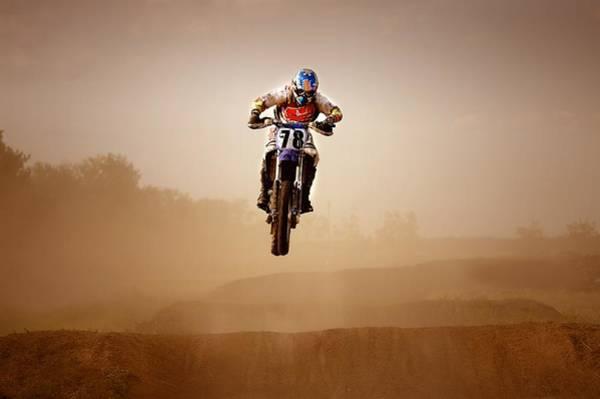 Dirt Bike Photograph - Motocross Rider by Con Tanasiuk