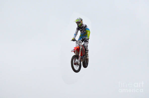 Dirtbike Photograph - Motocross Rider by DejaVu Designs