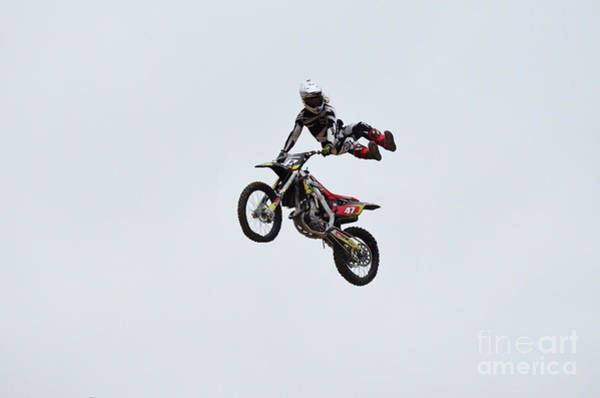 Dirtbike Photograph - Motocross Tricks by DejaVu Designs