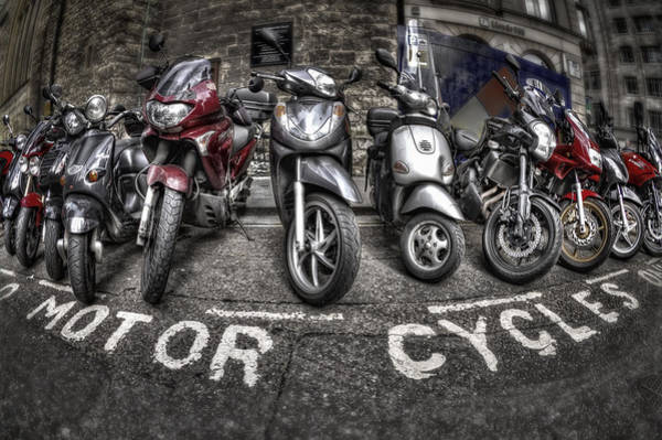 Transport Wall Art - Photograph - Motor Cycles by Evelina Kremsdorf