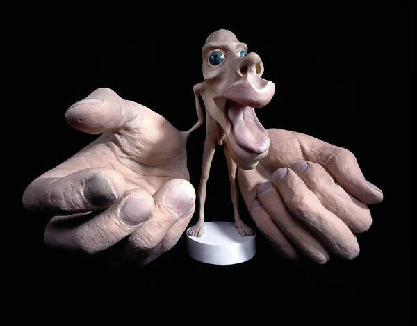 Wall Art - Photograph - Motor Homunculus Model by Natural History Museum, London/science Photo Library