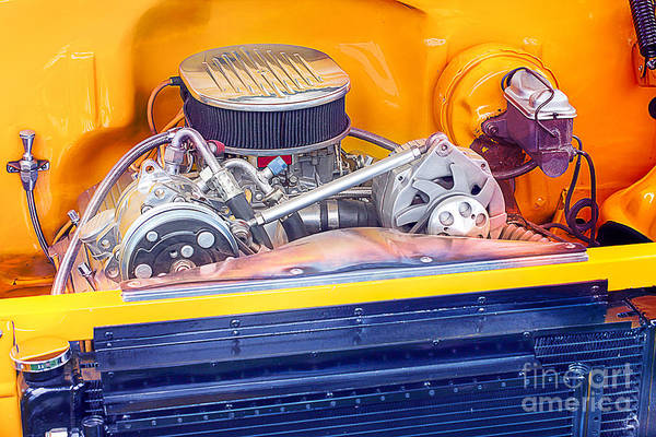Photograph - Motor In A Hot Rod Muscle Car by Gunter Nezhoda