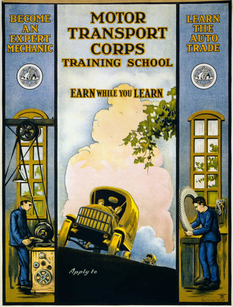 Wall Art - Painting - Motor Transport Corps by Granger