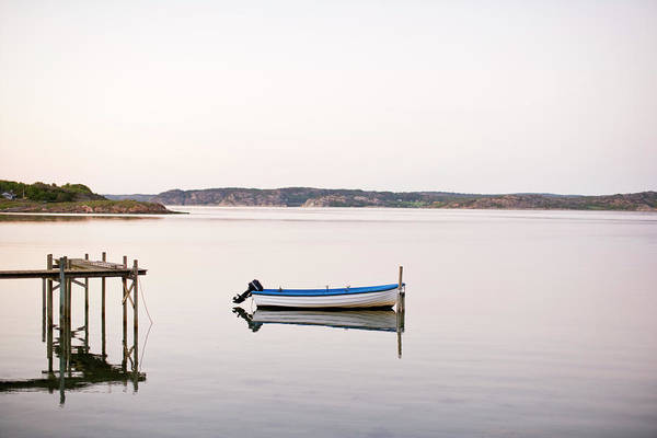 Motorboat Photograph - Motorboat Moored In Lake by Kentaroo Tryman