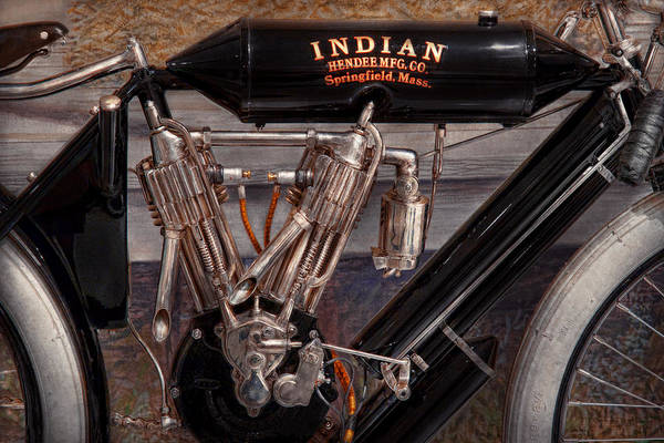 Photograph - Motorcycle - An Oldie But A Goodie  by Mike Savad