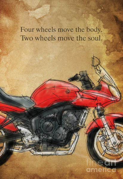 Wall Art - Drawing - Motorcycle Quote by Drawspots Illustrations