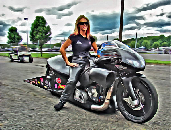 Photograph - Motorcycle Racing Beauty by Alice Gipson