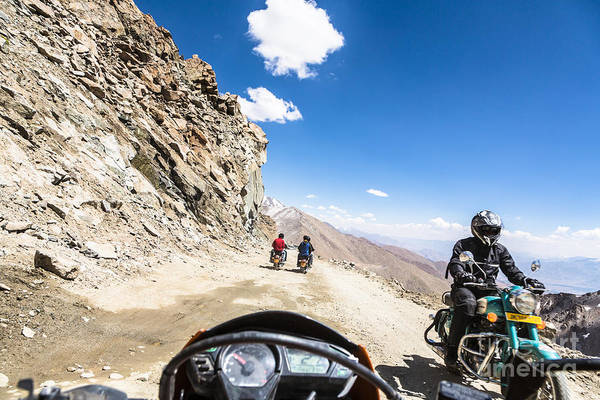 Photograph - Motorcycling In Ladakh by Didier Marti