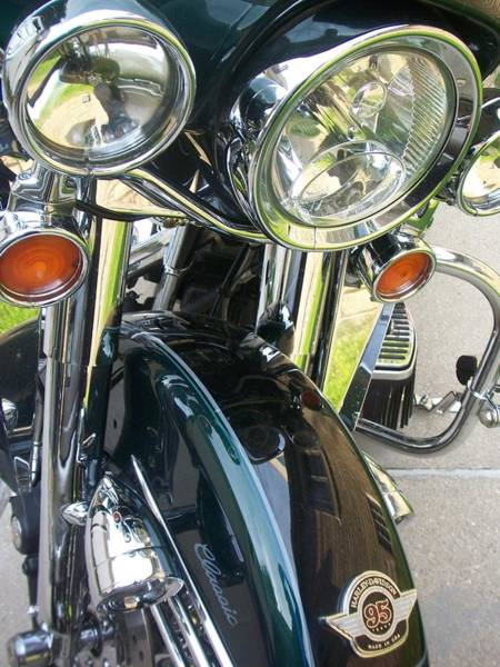 Photograph - Motorcyle Classic Headlight by Anita Burgermeister